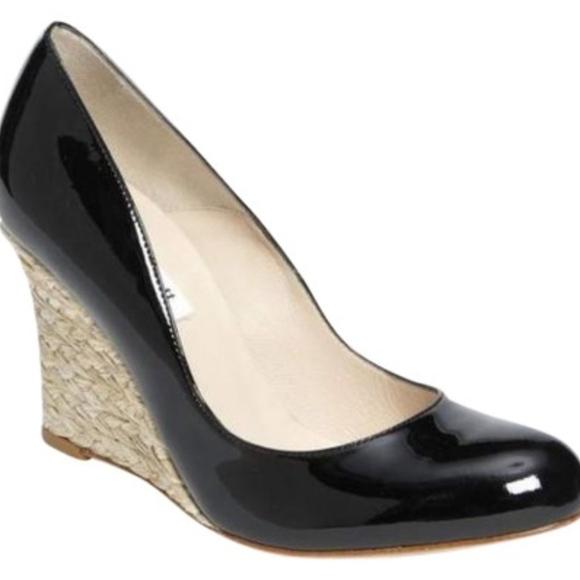 0f27dfc2762b LK Bennett Shoes - L.K. Bennett Black Maddox Patent Wedges